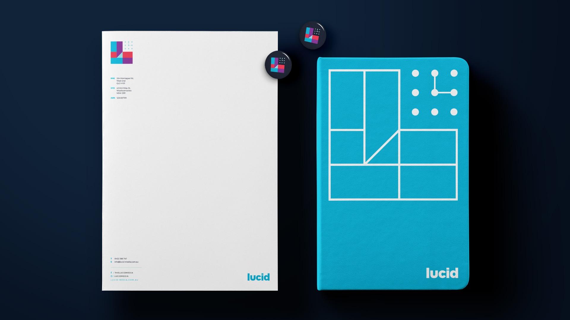 Letterhead, Notebook & Badges